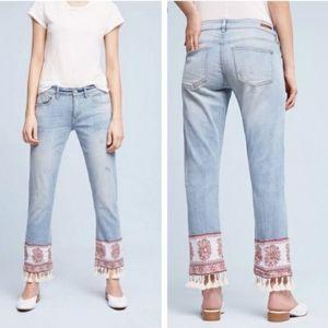 Anthropologie- Pilcro   Tassel Hypen Crop Jeans